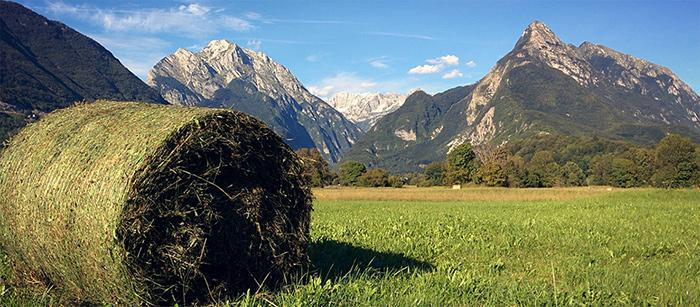 Mountains around Bovec in Slovenia