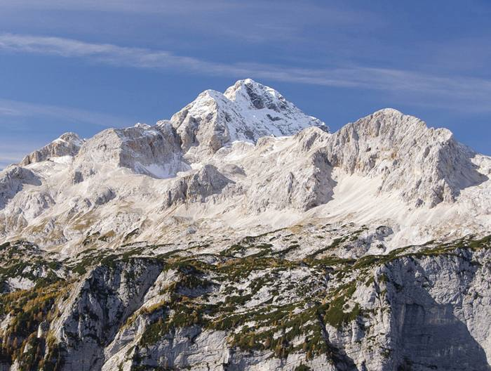Panoramic view of highest Slovene mountain - Triglav